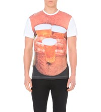 House Of Holland Martin Parr Chest Print Cotton T Shirt White Multi