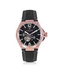 Lancaster Men's Watches Space Shuttle Meccanico Rose Gold Pvd Stainless Steel And Nubuck Men's Watch