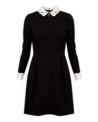 Ted Baker Shealah Embroidered Collared Dress Black