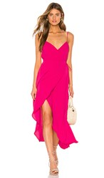 Show Me Your Mumu X Revolve Meghan Wrap Dress In Pink. Pink Crepe