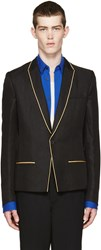 Haider Ackermann Black And Gold Linen Blazer