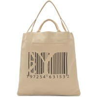 Y's Off White Barcode Print Tote