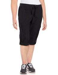 Calvin Klein Cropped Cargo Pants Black