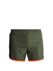 Robinson Les Bains Cambridge Long Swim Shorts Green