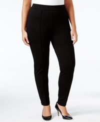Kasper Plus Size Ponte Compression Pants Black