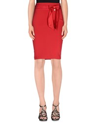 Elisabetta Franchi Skirts Knee Length Skirts Women Red