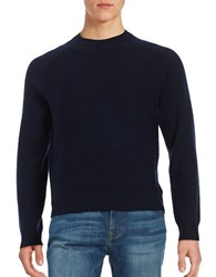 Brooks Brothers Textured Raglan Sleeve Sweater Blue