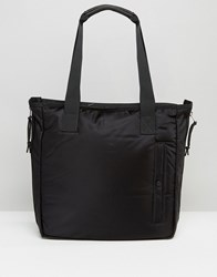 Allsaints Nylon Tote Bag Jet Black