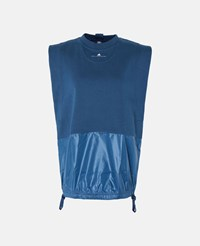 Stella Mccartney Dark Blue Blue Essentials Sleevless T Shirt