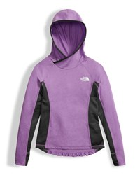 The North Face Girls' Long Sleeve Reactor Hoodie Purple Size Xxs Xl