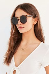 Urban Outfitters Veronica Preppy Cat Eye Sunglasses Brown