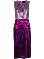 Christian Pellizzari Sequin Embellished Midi Dress Pink And Purple