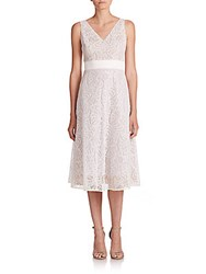 Nha Khanh Beth Lace And Tulle Dress Ivory Nude
