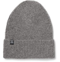 Herschel Cardiff Ribbed Cashmere And Wool Blend Beanie Gray