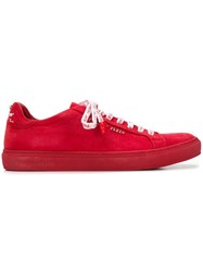 Philipp Plein Classic Low Top Sneakers Red