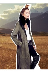 Free People Womens Military Trench
