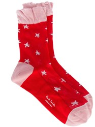 Paul Smith Black Label Star Pattern Socks Red