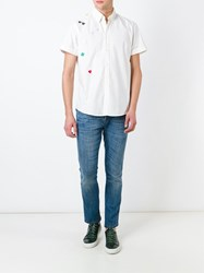 Moschino Vintage Embroidered Shirt White