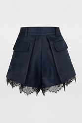 Self Portrait Lace Shorts Navy