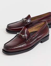 G.H. Bass And Co. Easy Weejuns Lincoln Leather Loafers In Wine Red