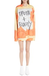 Marques Almeida Marques'almeida Truth And Beauty Oversized Sweatshirt Truth Beauty