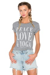 Spiritual Gangster Peace Love And Yoga Vintage Gym Tee Gray