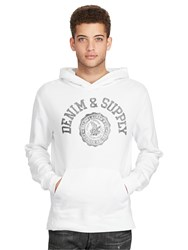 Denim And Supply Ralph Lauren Polo Popover Hoodie White Grey