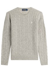 Polo Ralph Lauren Merino Wool Cable Knit Pullover Grey