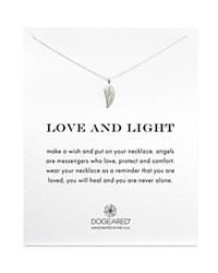 Dogeared Love And Light Angel Wing Necklace 18 Silver