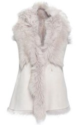 Karl Donoghue Reversible Shearling Vest Light Gray