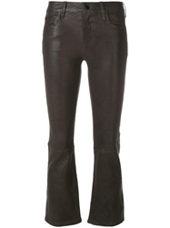 J Brand Kick Flare Trousers Grey