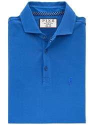 Thomas Pink Francis Plain Slim Fit Polo Shirt Blue