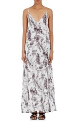 Onia Women's Stella Marble Print Plain Weave Maxi Dress No Color
