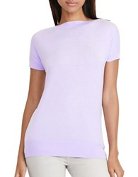 Lauren Ralph Lauren Petite Slim Fit Silk Blend Sweater Powder Purple