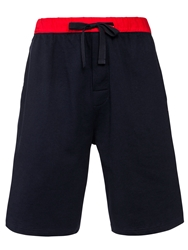 John Lewis Jersey Shorts Navy Red