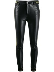 Ermanno Scervino Faux Leather Skinny Trousers B3502 Bicolor