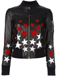 Htc Hollywood Trading Company Star Patch Bomber Jacket Black