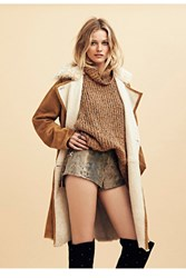 Free People Womens Wild Snake Leather Short