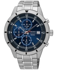 Seiko Men's Special Value Chronograph Stainless Steel Bracelet Watch 44Mm Sks559 Silver