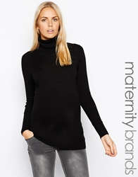 Mama.Licious Mamalicious Knitted Polo Neck Black