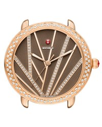 Michele 16Mm Serein Mid City Lights Diamond Rose Gold Watch Head Diamond Dial