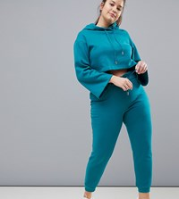 South Beach Plus Paperbag Joggers In Blue Green