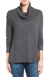 Women's Press Split Hem Cowl Neck Pullover