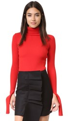 Jacquemus Ribbed Turtleneck Red