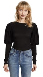 C Meo Collective Circuit Long Sleeve Top Black