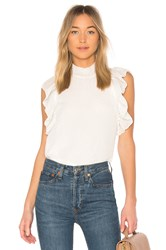 Endless Rose Ruffled Top White