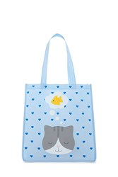 Forever 21 Dreaming Cat Graphic Tote Bag Seafoam Olive