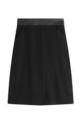 Barbara Bui Skirt With Leather Waistband Black