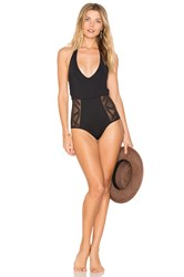 L Space Fireside Cheeky One Piece Black