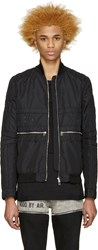 Hood By Air Black Jockey Bomber Jacket